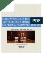 TUO Ley Nº 27584 Ley Del Proceso Contencioso Administrativo (actualizado)