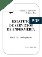 Estatutos de Los Servicios de Enfermeria-costa Rica