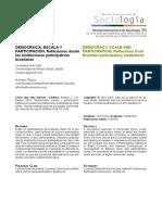 Democracia, Escala y Participacion. El Caso Brasileño