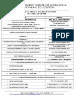 Bachelor of Commerce_Academic Calendar BCOM