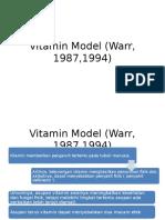 Vitamin Model (Warr, 1987,1994)