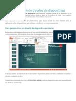 Personalización de Diseños de Diapositivas