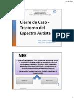 Cierre de Caso - Trastorno Del Espectro Autista