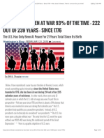 America Has Been at War for 222 Out of 239 Years Since 1776