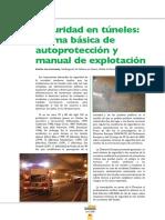 Seguridad en Túneles. Norma Básica de Autoprotección y Manual de Explotación