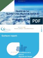 Etude Air Rhône-Alpes sur l'école Michel Servet