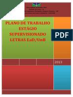 Plano de Trabalho de Estágio - Letras Ead - Unb - 2014