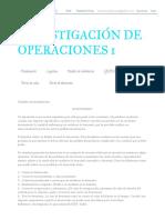 Investigación de Operaciones 1_ Modelo de Inventarios