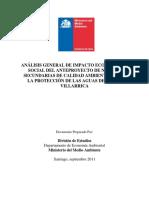 Estudio Contaminacion Lago Villarrica