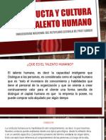 Conducta y Cultura Del Talento Humano DIAPOSITIVAS