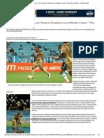 Após 120 Dias Na Reserva, Com Paulista, Ronaldo Torna a Defender o Sport_ _Feliz Pela Confiança_ - Superesportes