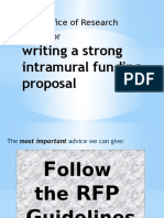 Writing a Strong Intramural Funding Proposal Forwebsite