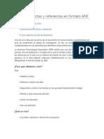 Cómo Hacer Citas y Referencias en Formato APA