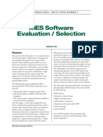 MES Evaluation and Selection