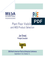 Plant Floor Visibility and MES Selection