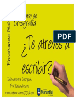 Afiche concurso ortografia
