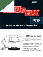 Manual Do Proprietário Fiat Uno Mille Elx 1994