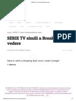 SERIE TV Simili a Breaking Bad Da Vedere