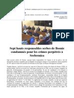 Génocide de Srebrenica, Chambre de première instance Jugement dans Popovic et al cas