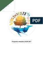 Biosíntesis 2017, Programa