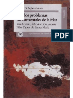 Schopenhauer Problemas Etica