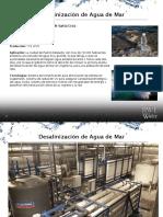 Antecedente de Desalinizacion de Agua de Mar Puerto Deseado