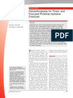Hemiarthroplasty for Three- And Four-part Proximal Humerus Fractures JAAOS 2012