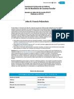 El Informe de Rendición de Cuentas Escolar