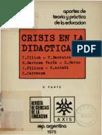 crisis en la didactica