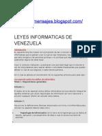 Leyes Informaticas de Venezuela