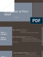 Delegation of Pitch Ideas - Group 35