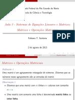 Aula 3 - Matrizes e OperaçSes Matriciais
