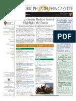 Historic Philadelphia Gazette November/December 2016