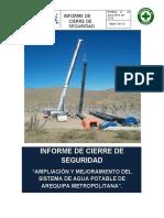 Informe Final de Cierre de Seguridad Imecon Arequipa