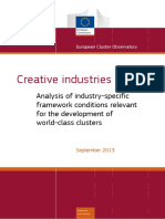 Creative industries Analysis of industry-specific framework conditions relevant for the development of world-class clusters