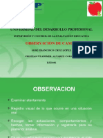 Exposicion Observacion de Campo