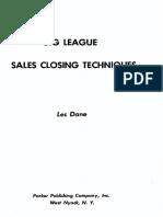 Big League Sales Closing Techniques