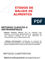 Clase de Analisis de Alimentos Metodos de Analisis de Alimentos