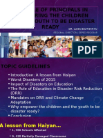The Role of Principals in Empowering the Children and the Youth to Be Disaster Ready