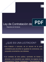 Ley de Contratacion Del Estado