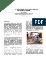 Application & Verification of Coriolis Meters