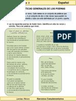 3er Grado - Español - Características de Los Poemas