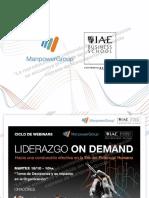 LiderazgoOnDemand ManpowerGroup IAE - Webinar 2