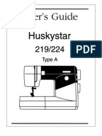huskystar 215 sewing machine