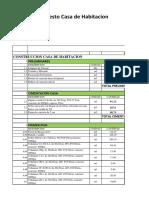 Formato de Presupuesto de Casa