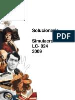 Solucionario EnsayoCepech2009