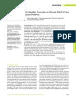 Effect of Intradialytic Aerobic Exercise on Serum Electrolytes
