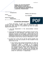 Counter Affidavit Mae Version 2