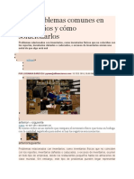 Tres Problemas Comunes en Inventarios y Cómo Solucionarlos