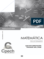 C3M Solucionario Guía Funciones Afín y Lineal 2015